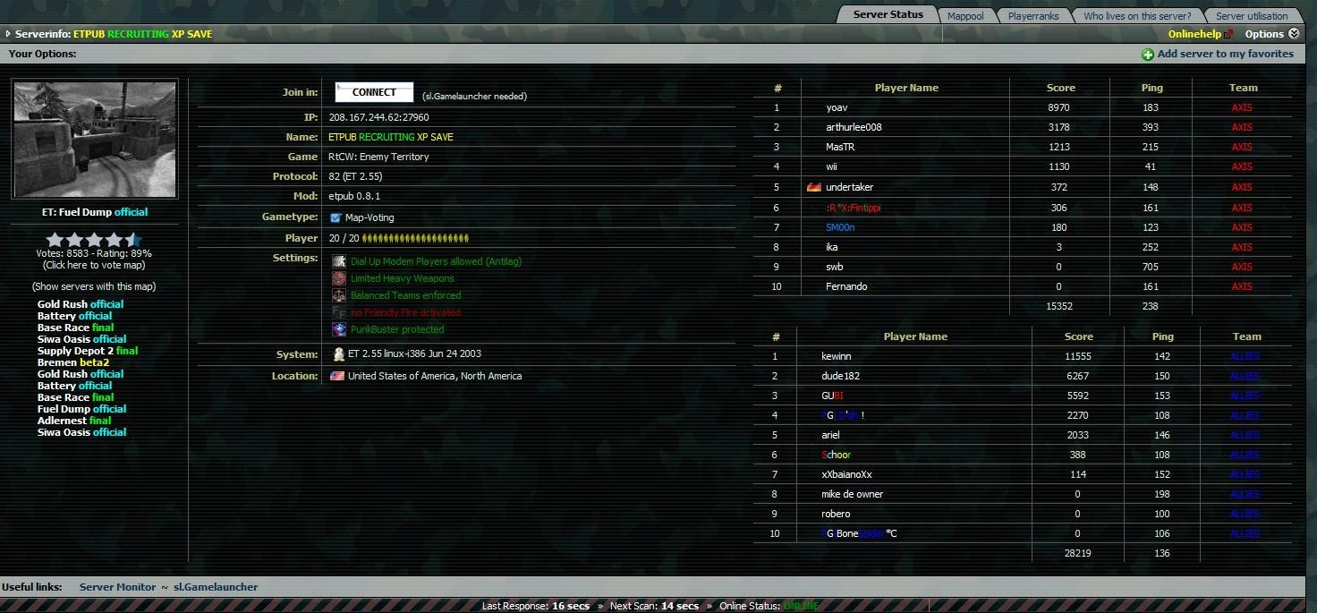 First ETPUB server of F|A clan. :)