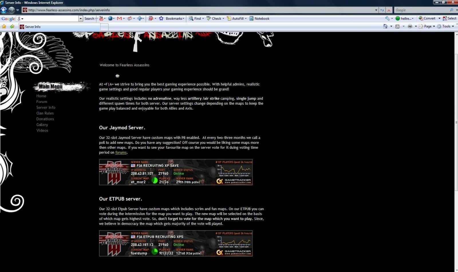 Old server IP :P