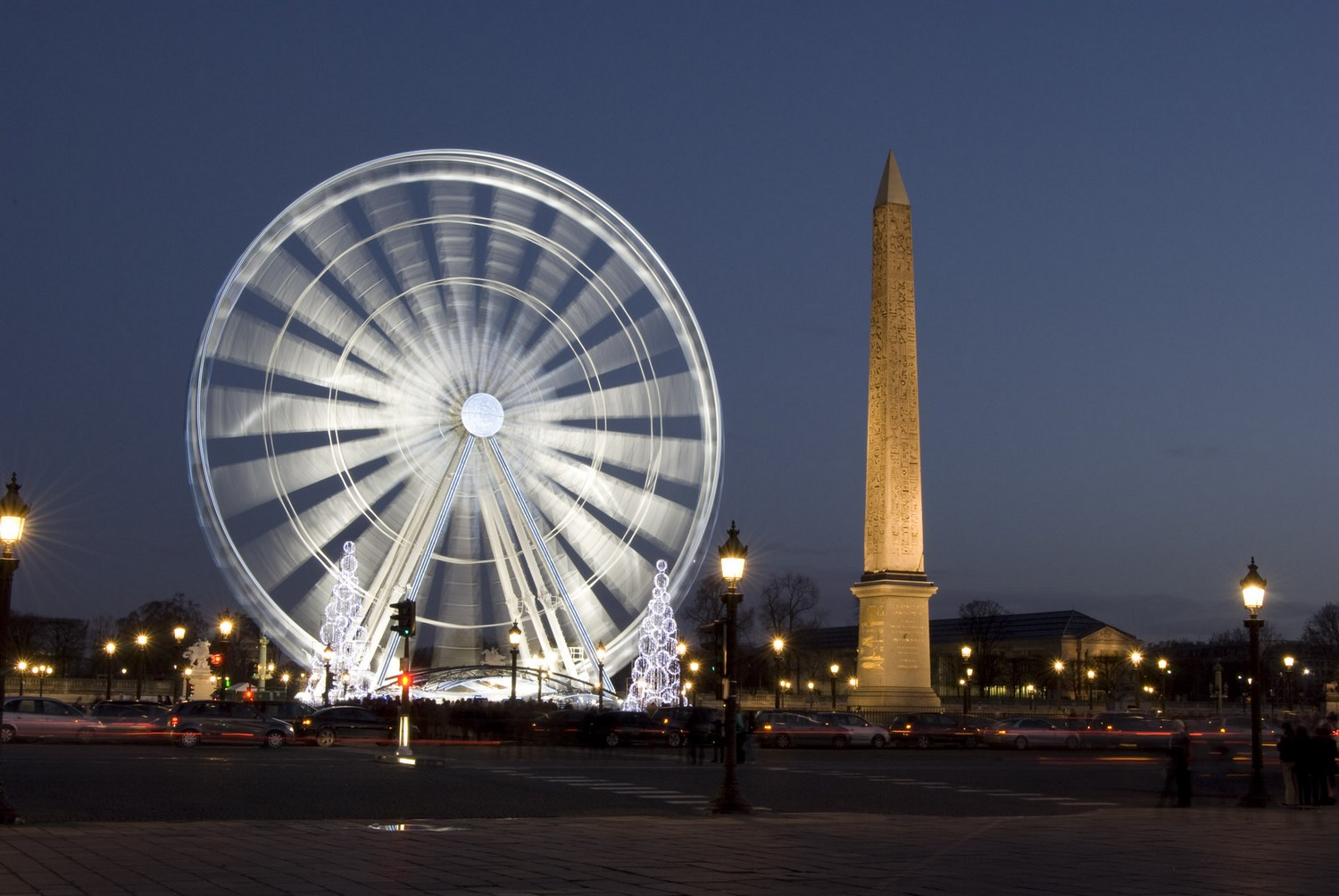 Place de la Concorde by night