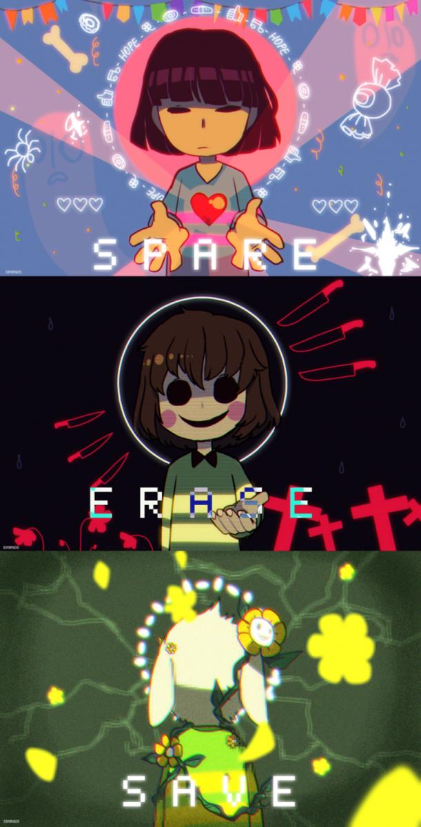 Undertale Spare, Erase, Save