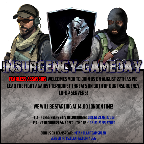 Game Month August 2016 Insurgency Poster