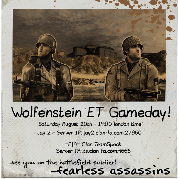 Game Month August 2016 Enemy Territory Poster