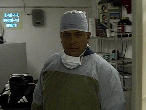 Scrubbed up for surgery onboard USS John C. Stennis (aircraft carrier)