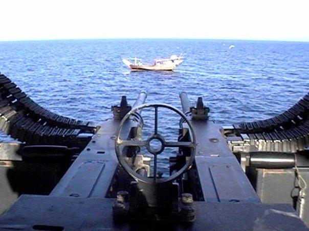 Twin .50 cal on Douhl boat Northern Arabian Gulf (NAG)