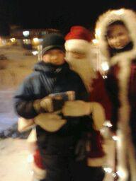 my eldest son Isaac and Santa <3