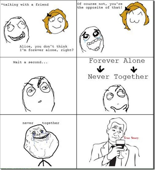 Forever Alone And Never Together