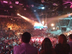 Truck with crowd shot