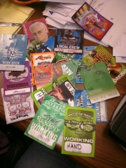Just a few of the passes from shows we have done