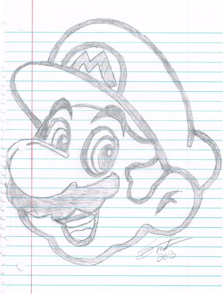 A drawing of Mario I did the other night :D