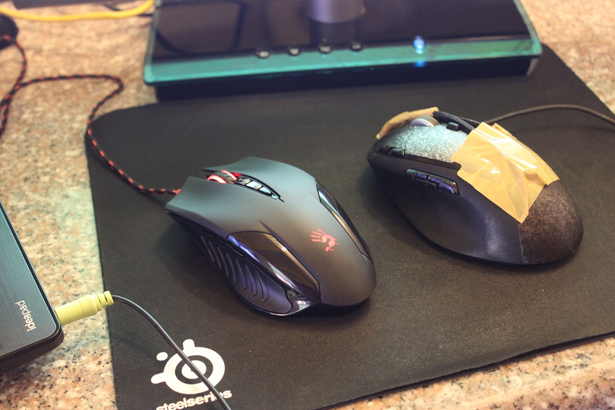 A4tech Bloody V5 mouse vs Logitech G500