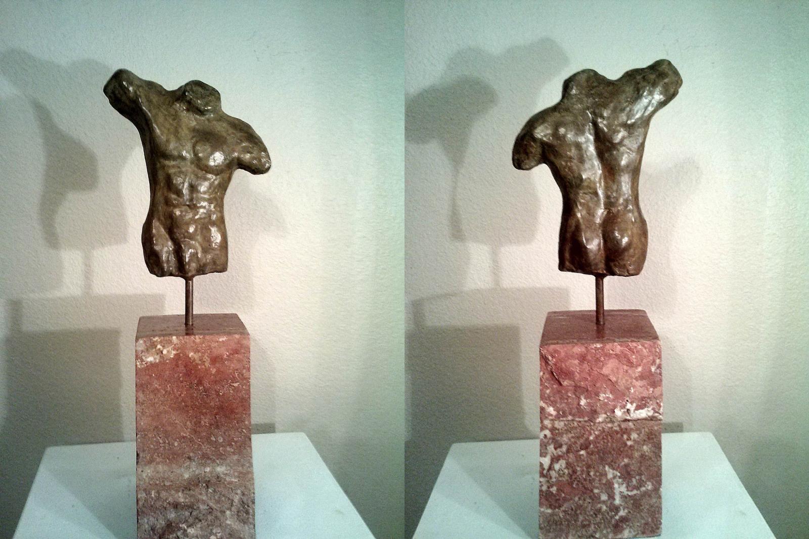 Pathos 2/10 Bronze on Travertine