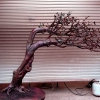 Olive Tree In Bronze, Hand Sculpted And Fabricated, with Chromium Green And Ferric Nitrate Patina