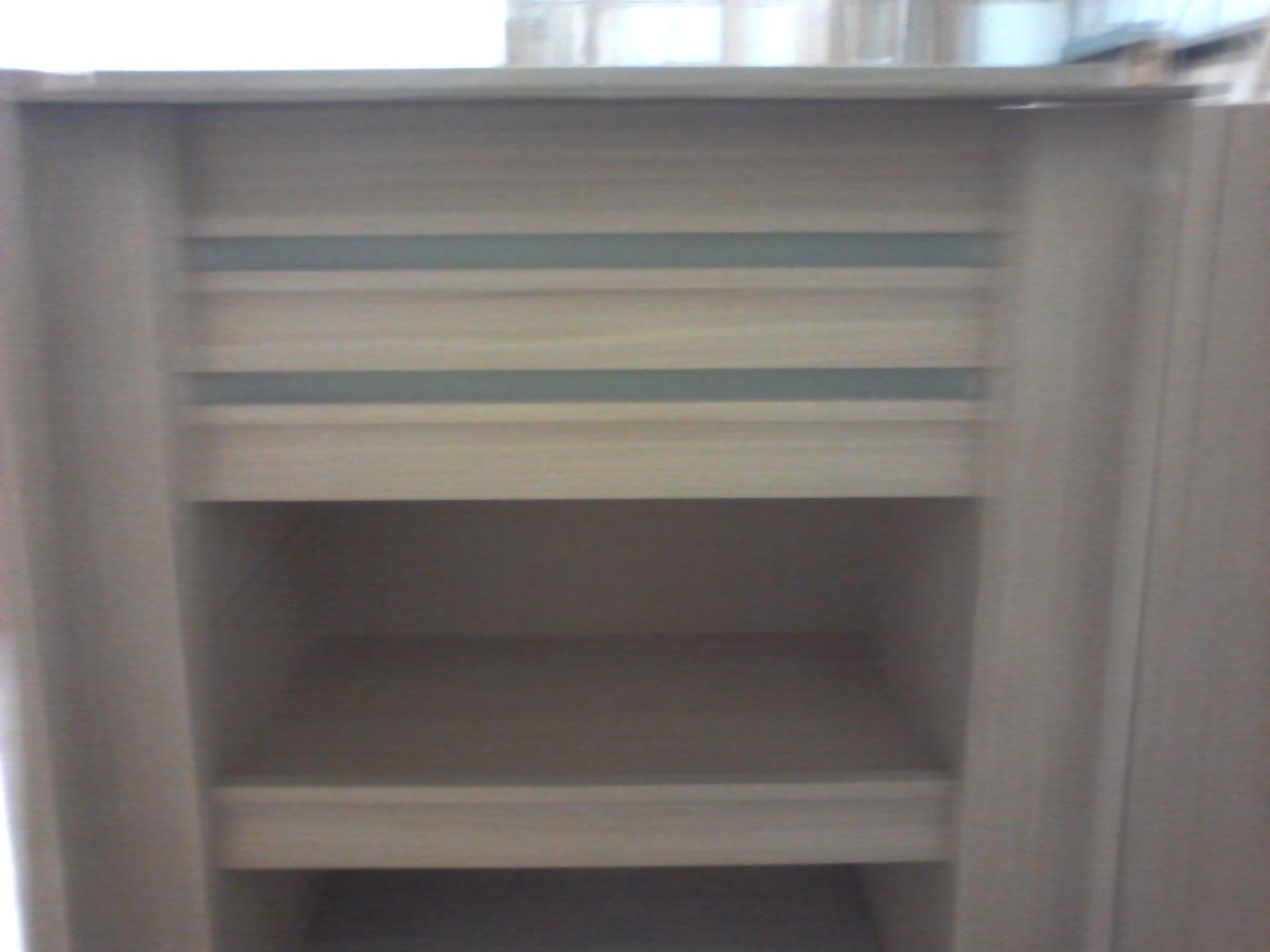 close Up Of light bars, shelf, & concave corner trim