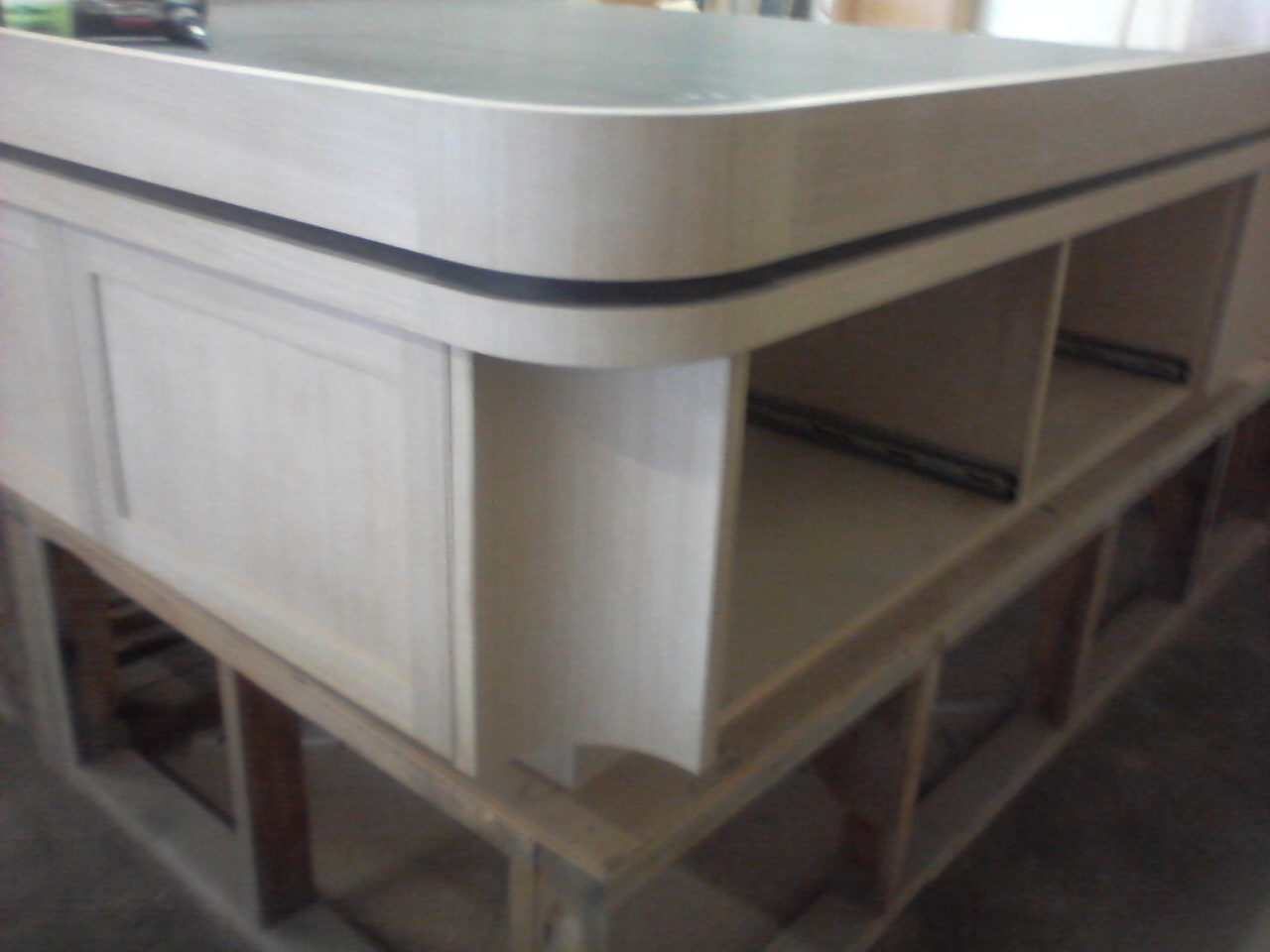 master bunk corner, shows dummy drwr And concave corner trim