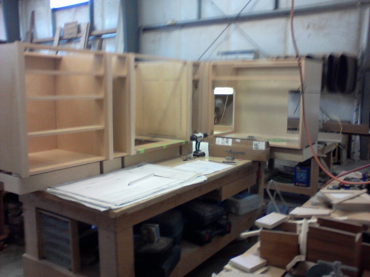 My bench, with half The galley lowers Dry Fit
