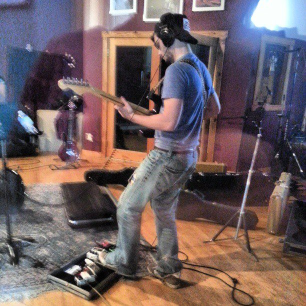 Also in the studio