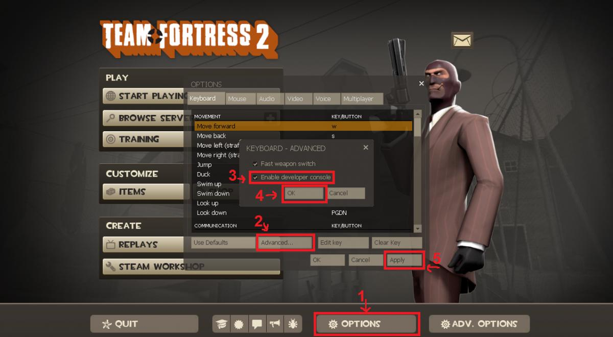 how to add binds on tf2 - team fortress series
